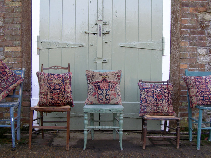 Unique Beautiful Antique Oriental Rugs Made Into Cushions