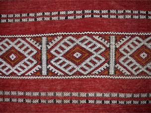 Moroccan embroidered kilim 341 x 161cm
